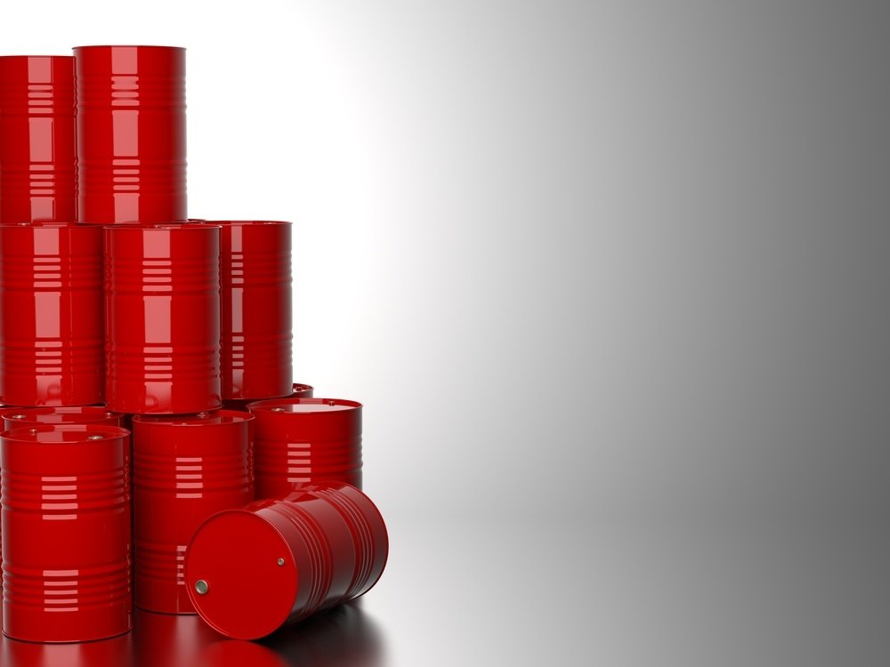Bunch-of-Red-Barrels-for-Oil-on-Gray-Background.-3D-Render..jpeg